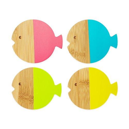 TrueZoo Fish Coasters, - Coasters Fish