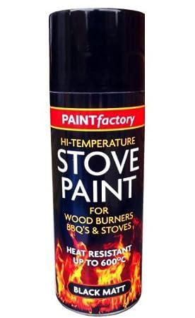 Alta temperatura estufa en negro mate Spray de pintura profesional alimentos quemadores barbacoas y estufas 400 ml: Amazon.es: Coche y moto