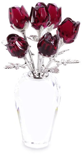 Swarovski Crystal Red Roses