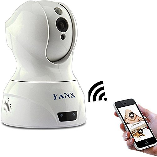 YANX Baby Monitor Wireless Camera HD IP Home Security Cam With Night Vision (White)