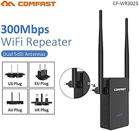 COMFAST 300M Wireless Repeater Network Router WiFi Signal Range Extender 802.11n