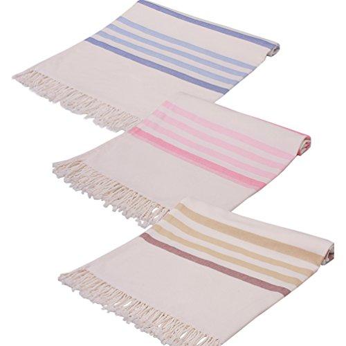 Turkish Beach Towel Peshtemal Hammam - 3 Packs In Bulk Strip