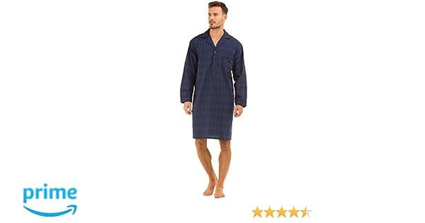 Haigman Poplin 100% Cotton Nightshirt 7391 Dark Navy Check Medium: Amazon.es: Ropa y accesorios