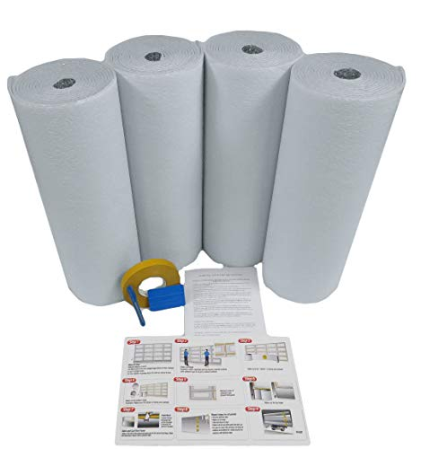 US Energy Products Reflective White Foam Core Single Car Garage Door Insulation Kit 10x8 (Also Fits 10x7 9x8 9x7 8x8 8x7) by USEP (Image #1)