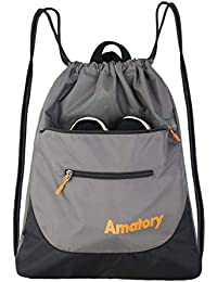 1fb6c98bed32 Drawstring Backpack Sports Athletic Gym String Bag Cinch Sack Gymsack  Sackpack