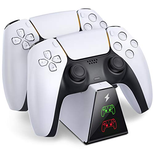 BEBONCOOL PS5 Controller Charging Station, Fast Charging Dock Compatible with Playstation 5 DualSense Controller, Durable PS5 Controller Charger Dock with Fast Type-C Charge Port & LED Indicators