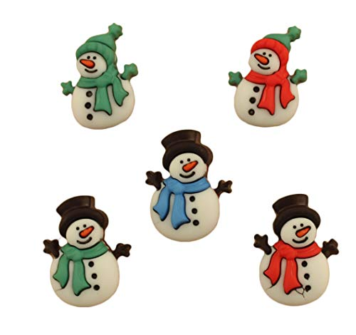 Buttons Galore Craft & Sewing Buttons - Jolly Snowmen - 3 Packs (15 Buttons)