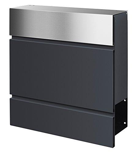 Briefkasten Bilder frabox design briefkasten lens edelstahl anthrazitgrau amazon de