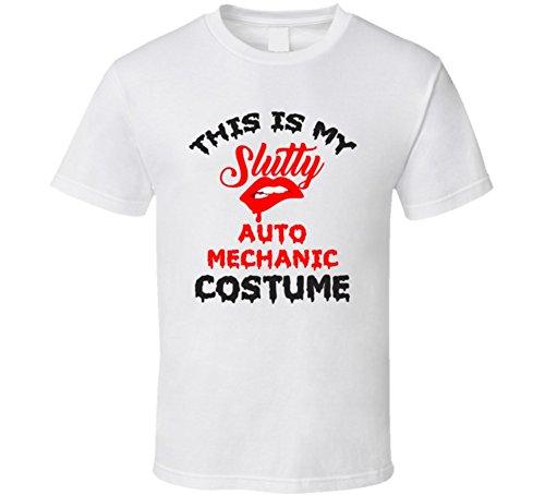 Auto Mechanic Halloween Costume (This is My Slutty Auto Mechanic Costume Halloween T Shirt 2XL White)