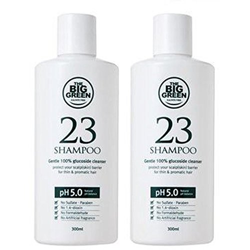 Price comparison product image Big Green 23 Shampoo 300ml x 2set / Shower / Bath / Toilet / Scalp / Hair / Conditioning / Female / Male / Indoor / Outdoor / Home