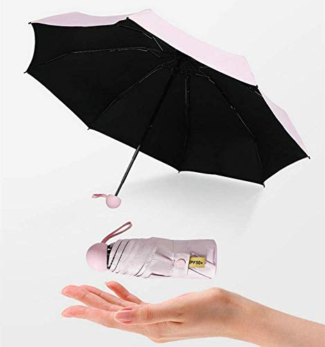 (DJSMys 8 Fracture Umbrella Capsule Glasses Glasses Umbrella Ultra Light Mini Sunscreen Black Plastic Sunshade Pocket Umbrella Small Umbrella (Color : A))