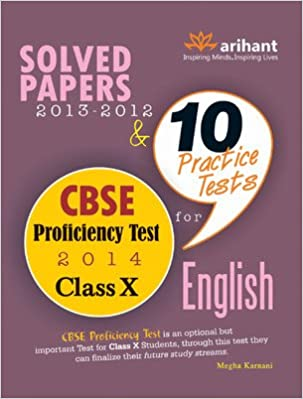 10 Practice Tests for CBSE Proficiency Test 2014 - Class 10 : Solved Papers 2013 - 2012 1st Edition price comparison at Flipkart, Amazon, Crossword, Uread, Bookadda, Landmark, Homeshop18