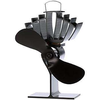 ECOFAN UltrAir Wood Stove Fan, Medium, Black Blade