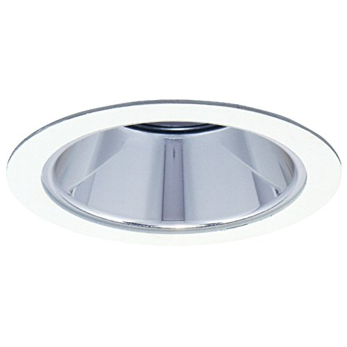 HALO Recessed 1421W 4-Inch Trim with Reflector, White 35 Degree Tilt Adjustable Baffle