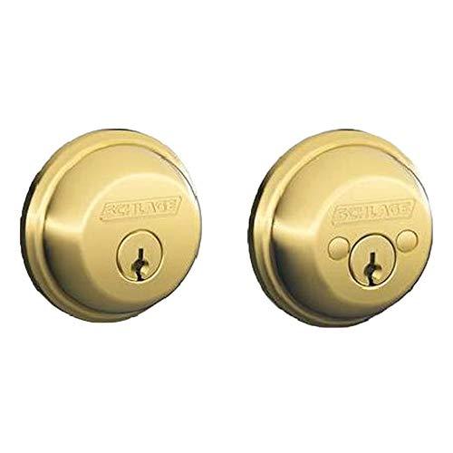Schlage Lock Company B62N 505 605 Double Cylinder Deadbolt in Bright Brass