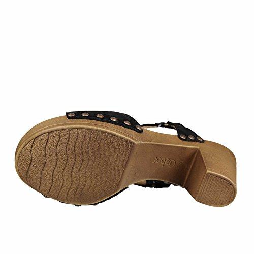 Gabor 23.802.07 - Sandalias de vestir de Piel para mujer Negro - negro