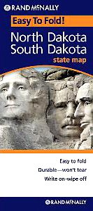 Rand McNally Easy To Fold: North Dakota, South Dakota (Laminated) (Rand McNally Easyfinder)
