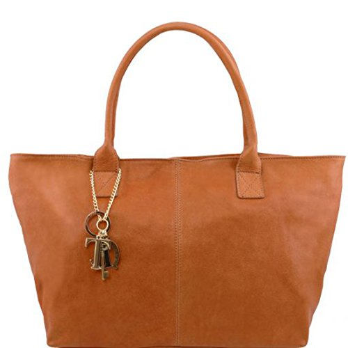 Tuscany In Pelle Borsa Keyluck Cognac nero Leather Donna Tl Tl141207 wCPqwFRr