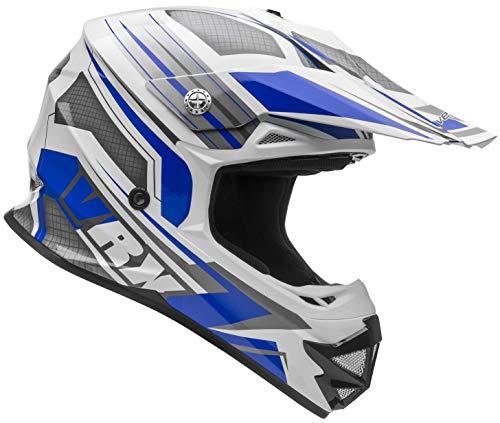 - Vega Helmets VRX Unisex Child Youth Off Road Helmet Blue Venom Graphic LG