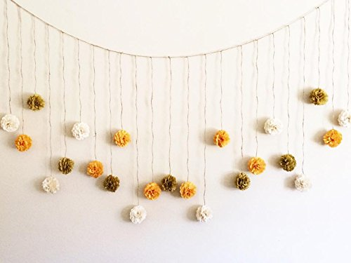 Amazon.com: Wedding Garland Rustic Neutral Colors Tissue Paper ...