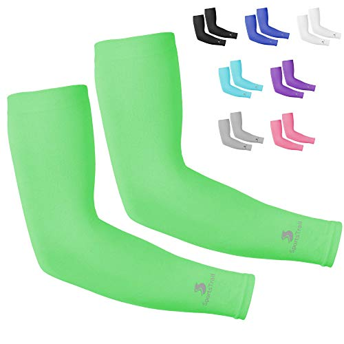 SportsTrail Arm Sleeves for Men & Women, Tatoo Cover up Sleeves to Cover Arms, 1 Pair (Green) (Best Forearm Tattoos 2019)