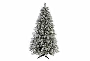exmas green snow covered christmas tree 6ft with usb powereed light up desktop christmas - Snow Covered Christmas Trees
