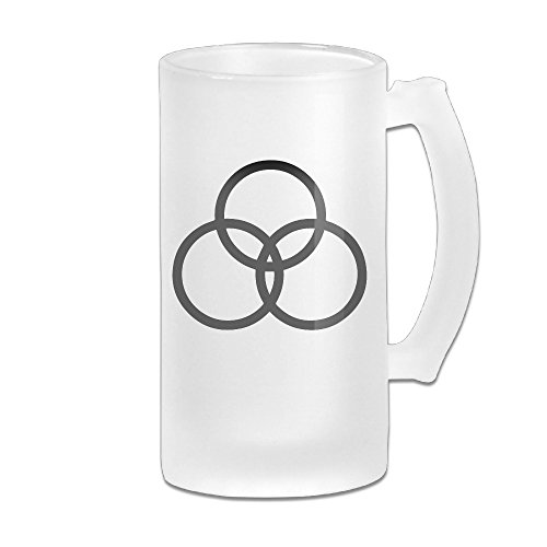 Led Zeppelin John Bonham Logo Grind Beer Glass Mug White
