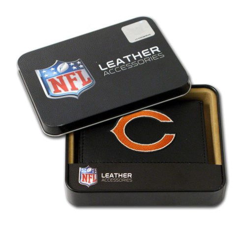 Chicago Bears Embroidered Leather Tri-Fold - Tri Leather Bears Chicago Fold Wallet