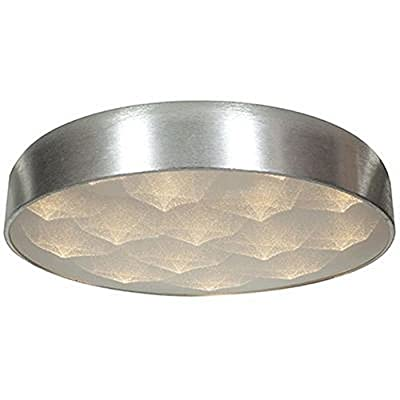 """Access Lighting 70081LEDD-BSL/ACR Meteor - 18"""" 36W 12 LED Flush Mount, Brushed Steel Finish with Acrylic Glass"""