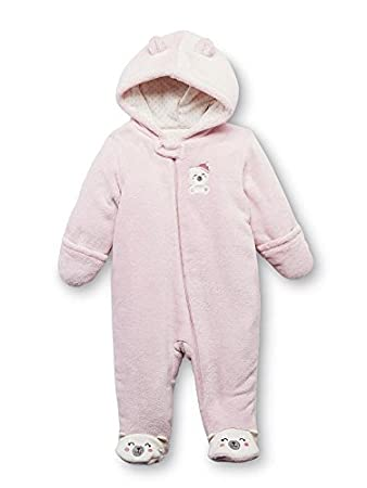 749b0d3b5 Amazon.com   Little Wonders Infant Girls Plush Pink Bear Snowsuit ...