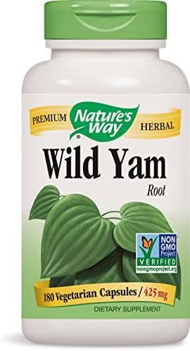 Nature's Way Wild Yam, 180 Vcaps, 425mg