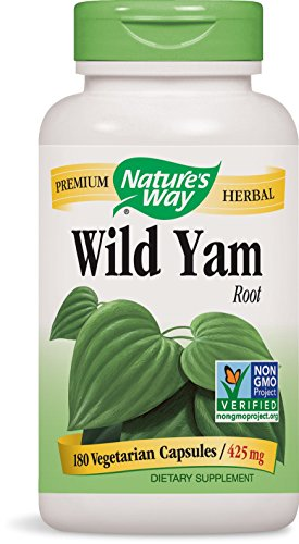 Nature's Way Premium Herbal Wild Yam Root 425 mg, 180 Vcap (Packaging May Vary)