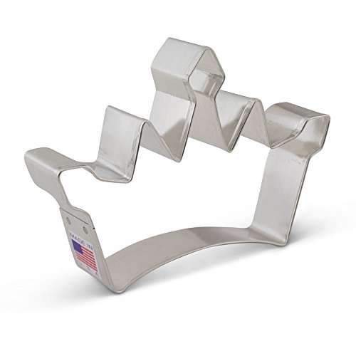 Princess Crown Cookie Cutter - Ann Clark - 4.75 Inches - US Tin Plated Steel]()