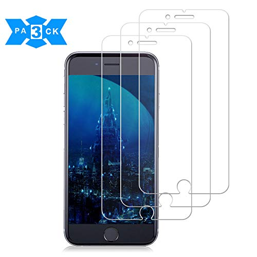 [3 Pack] iPhone 8 plus/7 plus/6S plus and iPhone 6 plus Glass Screen Protector,Loopilops Tempered Glass Screen Protector [No Bubbles][9H Hardness] Compatible iPhone 8 plus/7 plus/6S plus