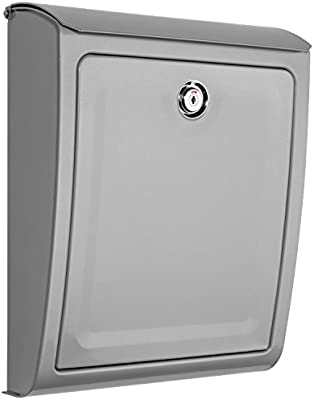 Wall Mount Mailbox Locking Stainless Steel Cam Lock Two Keys Solid Front Panel