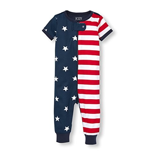 The Childrens Place Baby Infant Short Sleeve One-Piece Pajamas