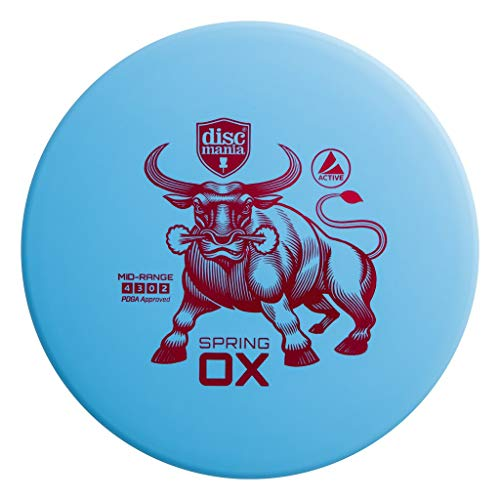 (Discmania Active Base Spring Ox Mid-Range Golf Disc [Colors May Vary] - 165-170g)