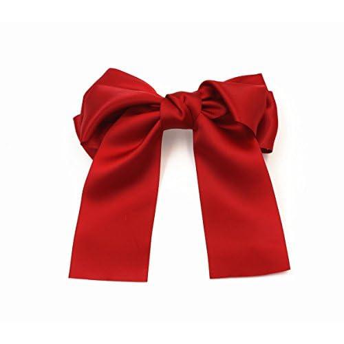 Lot de 621,1cm Grand Large Extra Large Doux Cheveux Soyeux nœuds Clip Lolita Party Girl femmes Français Barrette cheveux Clips