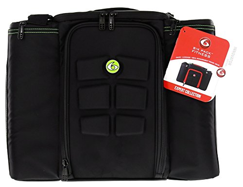 6 Pack Fitness Bag Innovator 500 Black/Neon Green (5 Meal) by 6 Pack Fitness