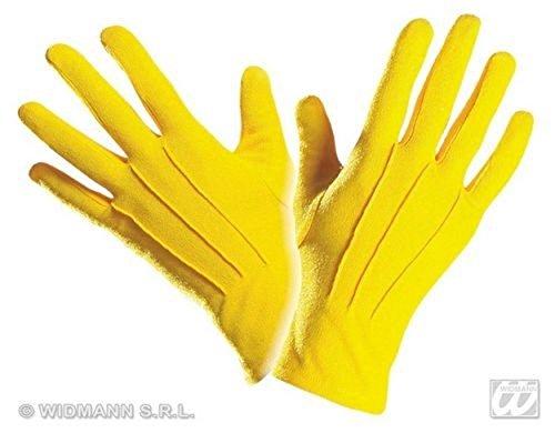 WIDMANN Yellow Gloves Short For 20S 30S 50S Flapper Moll Magician Assistant Fancy Dress -