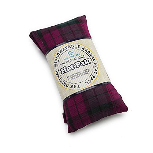 Hot-Pak Microwavable Tartan Heat Pack With A Lavender Scent, 90 Second Warm Up, Plumwatch (Hot Pak)