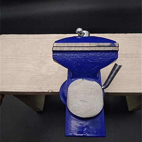 GENERICS LSB-Werkzeuge, 16,5 * 16 * 6,5 cm tischschraubstock leichte Mechaniker klemm tischschraubstock 360 Grad drehbasis gusseisen tischplatte klemmschraubstock mit amboss