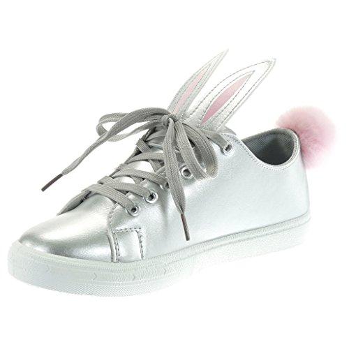Tennis Chaussure 2 Pom Talon Angkorly CM Plat 5 Fantaisie Mode Femme Pom Baskets tRnwq
