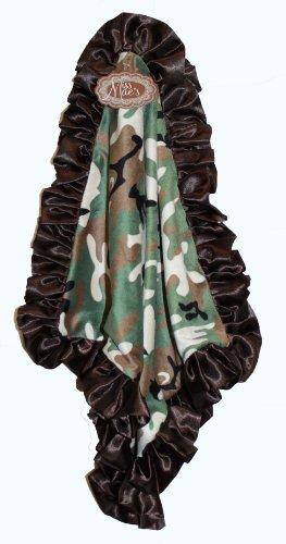 Camo Minky & Satin Snuggle Blanket (Chocolate) (Little Miss Riding Hood)