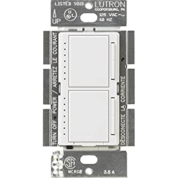 Lutron MA-L3S25-WH Maestro 300 Watt Single-Pole Dual Dimmer and ...