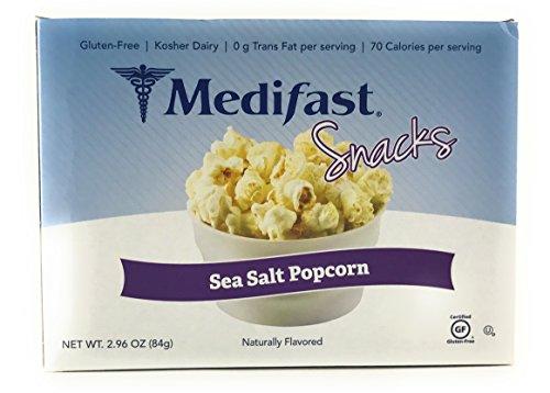 Medifast Snacks Sea Salt Popcorn (1 Box/7 Servings) by Medifast