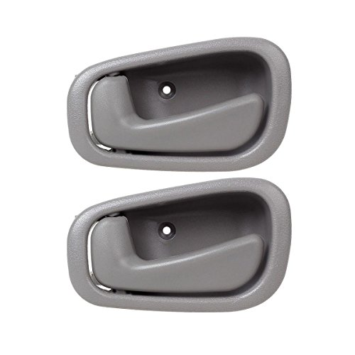 AUTEX 2pcs Front/Rear Left (Driver Side) Gray Interior Inner Door Handle Compatible with Toyota Corolla 1998 1999 2000 2001 2002