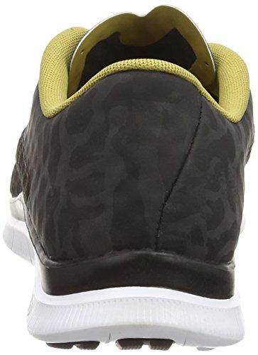Nike Free Hypervenom Low FC - Zapatillas Hombre Negro (black/flt gold-white-black 001)
