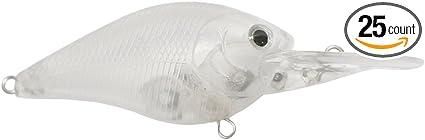 Shelt/'s 25 Pcs Unpainted Fishing Lures 1.5dd Crankbaits Hard Bait Bodies