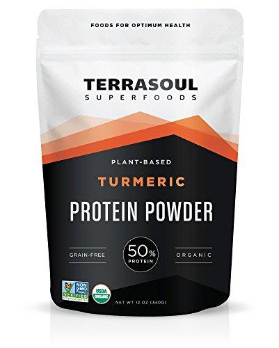 Terrasoul Superfoods Organic Turmeric Protein Powder (Probiotic, Grain-Free), 12 Ounces